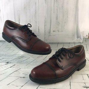 Dockers Mens Size 13M Derby's Lace Up Cap Toe Shoe